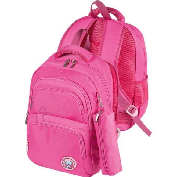 *Koolikott deVENTE Teddy 39x29x13cm, tekstuurne tekstiil, roosa