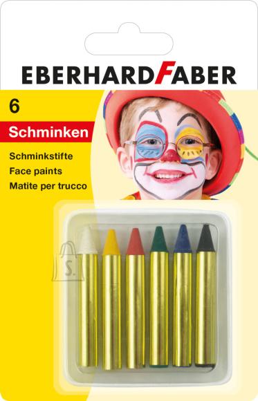 Näovärvid EberhardFaber lühikesed 6-värvi