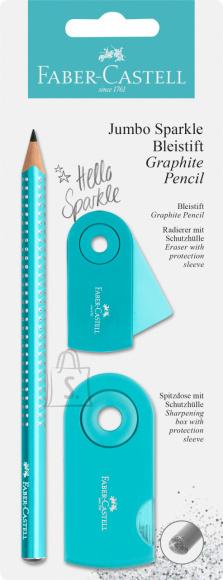 Faber-Castell Harilik pliiats Faber-Castell Jumbo Sparkle 2tk/pk pärli türkiis