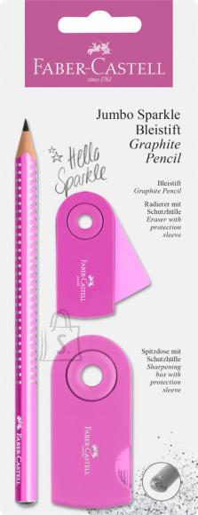 Faber-Castell Harilik pliiats Faber-Castell Jumbo Sparkle 2tk/pk pärli roosa