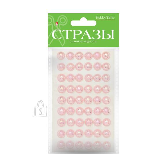 Iseliimuvate kaunistuste komplekt nr 112, Vikerkaarevärvilised pärlid, 10mm, 5 värvi