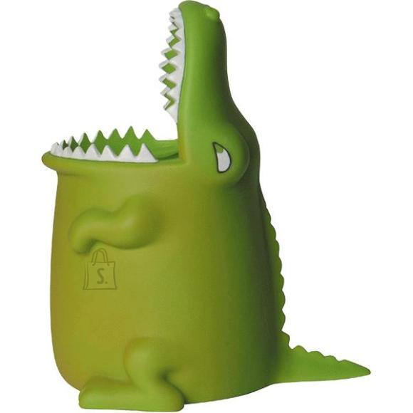 Pliiatsitops deVENTE Krokodill 8.5x11x13cm plastik