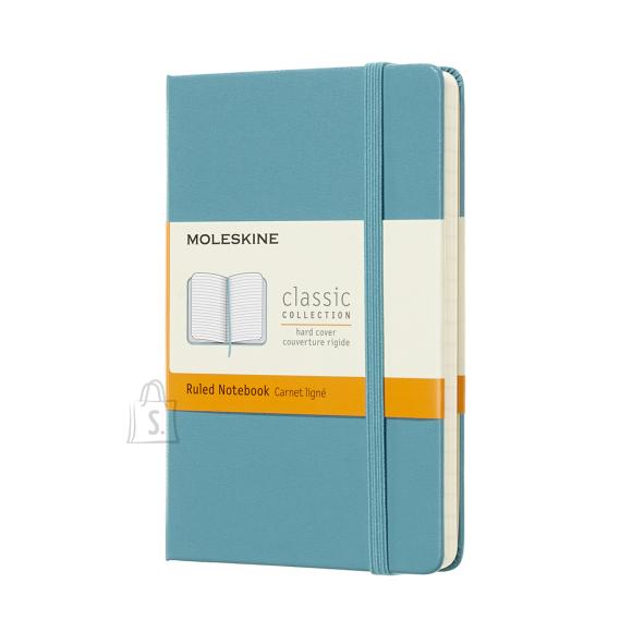 Märkmik Moleskine Classic 9x14cm, jooneline, kõvad kaaned, sinine