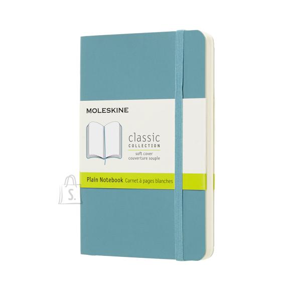 Märkmik Moleskine Classic 9x14cm, valge, pehmed kaaned, sinine