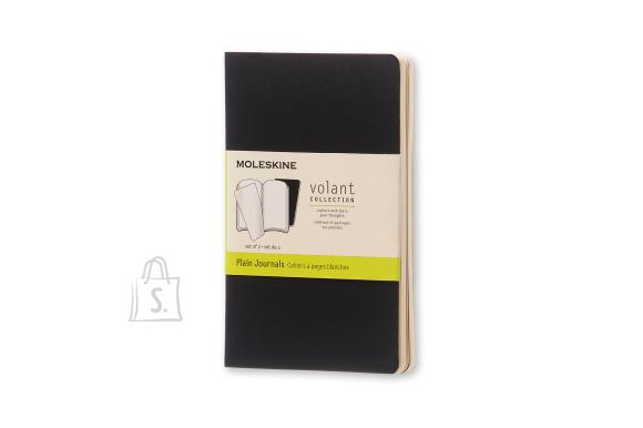 Märkmik Moleskine Volant 9x14cm, valge, pehmed kaaned, must