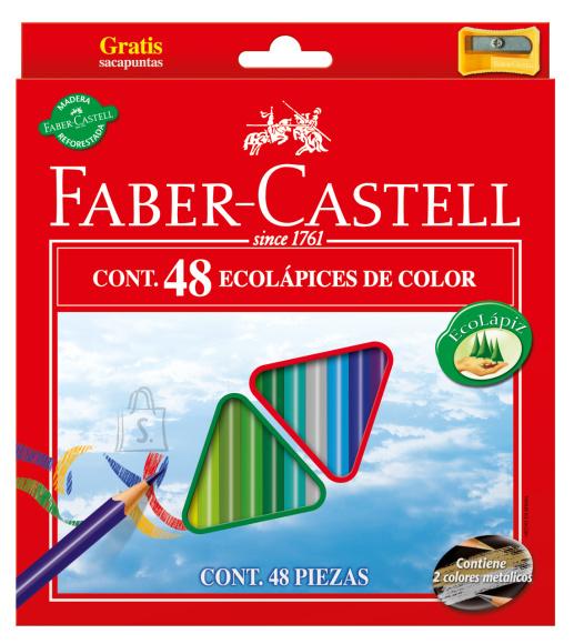 Faber-Castell Värvipliiatsid Faber-Castell Eco 48-värvi kolmetahulised + teritaja (P)