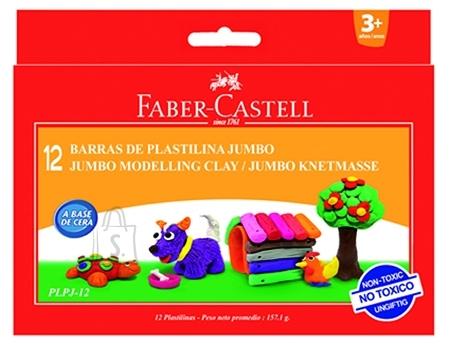 Faber-Castell *Plastiliin Faber-Castell Jumbo 12-värvi