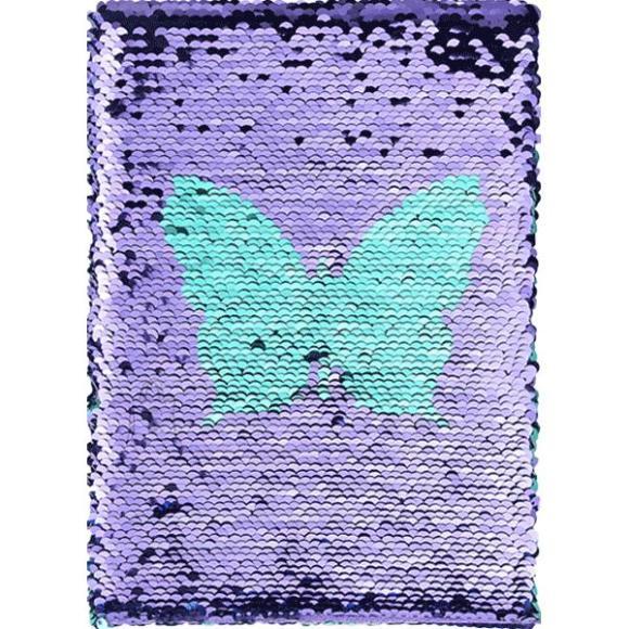 *Märkmik deVente A5/160L Butterfly, 5x5 ruut, kõvakaas