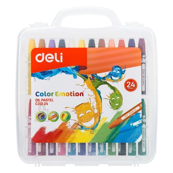 Õlipastellid DELI 24-värvi lastele