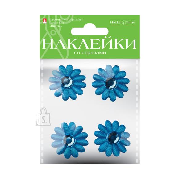 Dekoratiivsed kleepsud HobbyTime kristallidega lilled Nr2 4 valikut