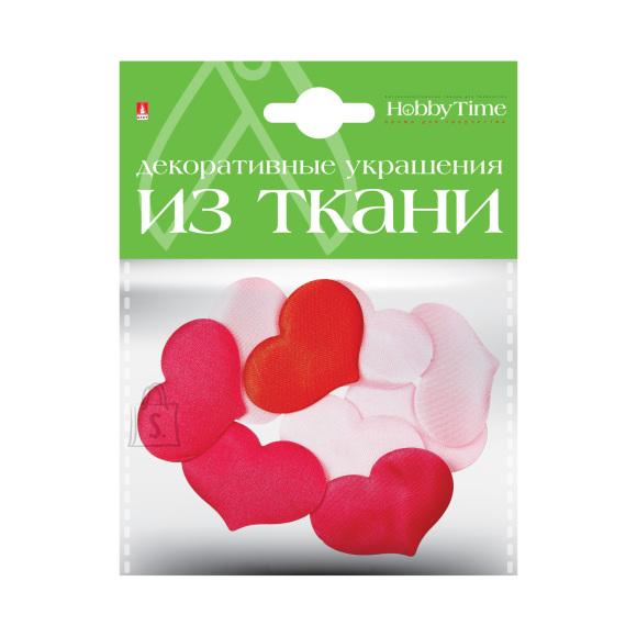 Tekstiilist dekoratiivelemendid HobbyTime Nr10 südamed M 5 valikut