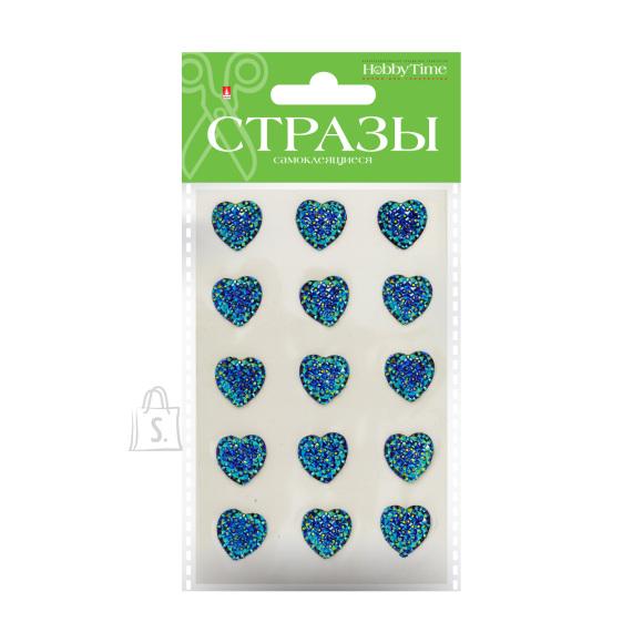 Kleebitavad kristallid HobbyTime südamed 16mm 4-värvi