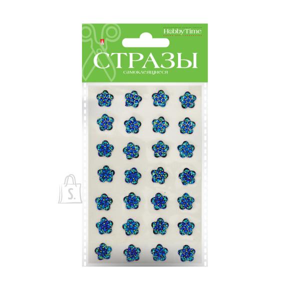 Kleebitavad kristallid HobbyTime lilled 12mm 4-värvi