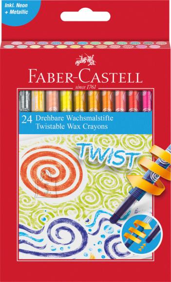 Faber-Castell Rasvakriidid Faber-Castell keeratavad 24-värvi