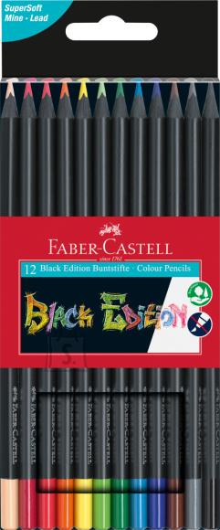 Faber-Castell Värvipliiatsid Faber-Castell Black Edition 12-värvi