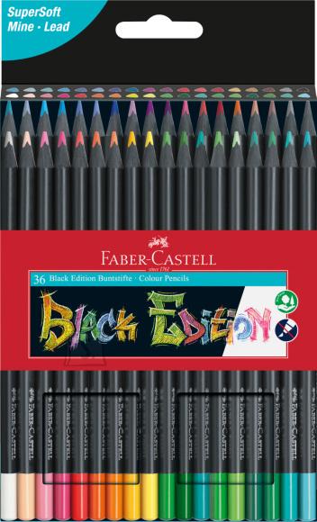 Faber-Castell Värvipliiatsid Faber-Castell Black Edition 36-värvi