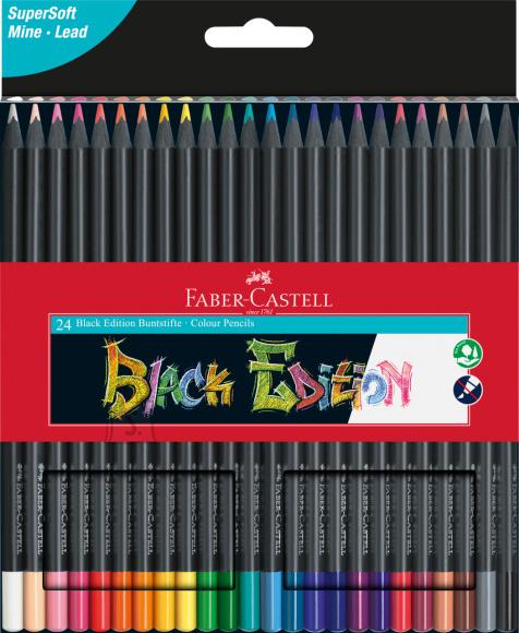 Faber-Castell Värvipliiatsid Faber-Castell Black Edition 24-värvi