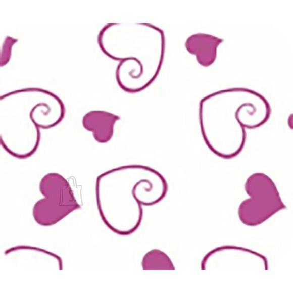 Siidipaber deVENTE Roosa südamed 17g 50x70cm 5-lehte