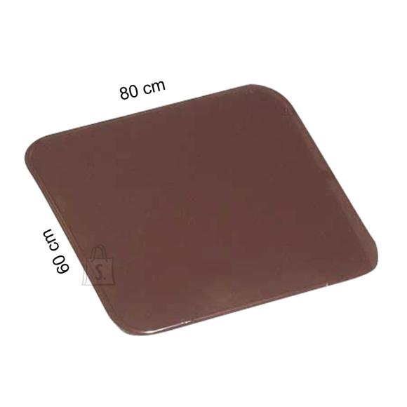 Plaat ahju ette 60 x 80 cm, metallplaat, pruun