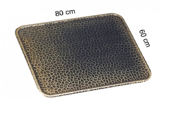 Plaat ahju ette antiikmessing 60 x 80 cm pressitud mustriga