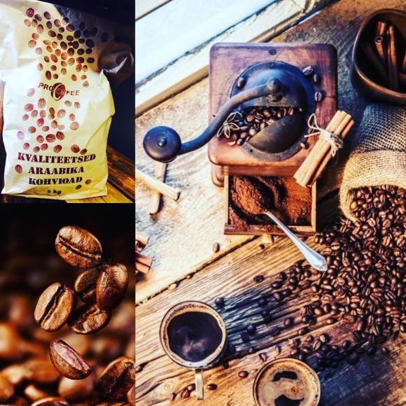 Araabika 5kg kohviuba, keskmine röst, valitud oad. Eesti kohvimeister. VÄRSKE! Röstitud märtsis 2020.