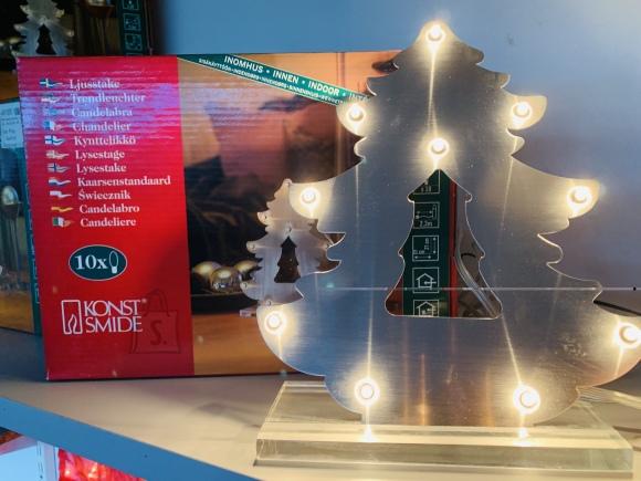 Jõuluvalgus, metall kuusk 26x21cm 10 lambiga