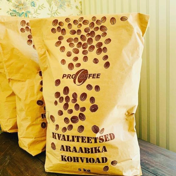 Araabika 5kg kohviuba, keskmine röst, valitud oad. Eesti kohvimeister. VÄRSKE RÖST!