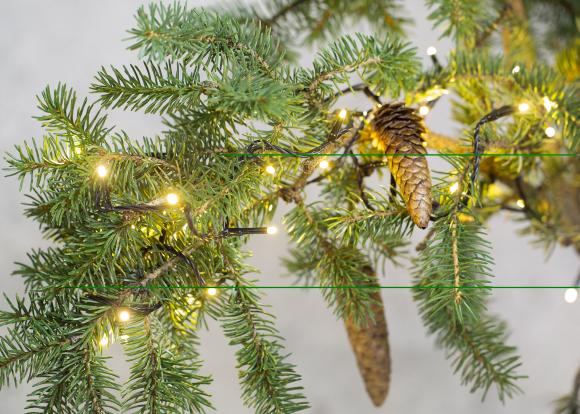 Jõuluvalgus 240LED, IP44, 23,9m, soe valgus, must juhe