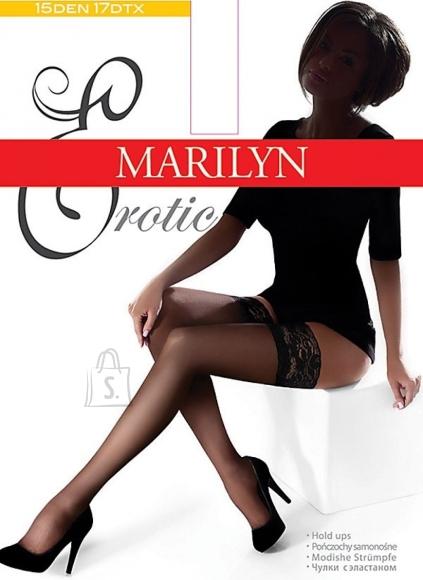 Marilyn Erotic 15 DEN sukad pitsi ja silikooniga