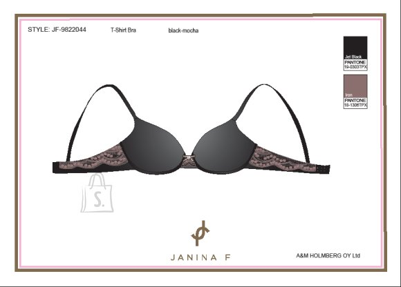 Janina F Push-up pitsiga ja tugikaartega rinnahoidja