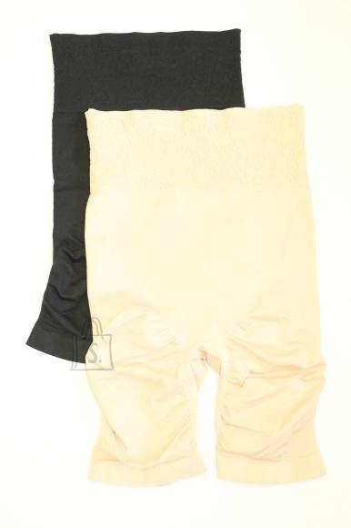 Õmblusteta trimmivad shortsid silikooniga ja mustriga