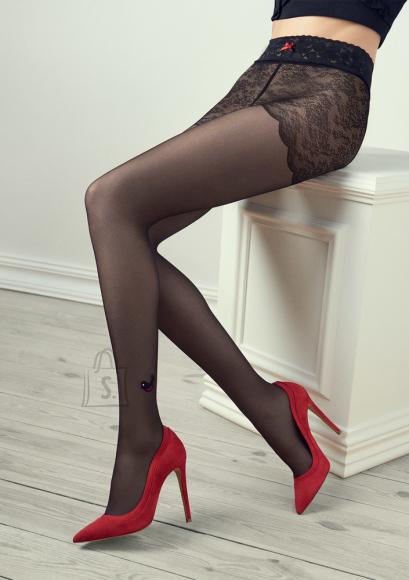 Marilyn pitsi ja silikooniga sukkpüksid 20 DEN