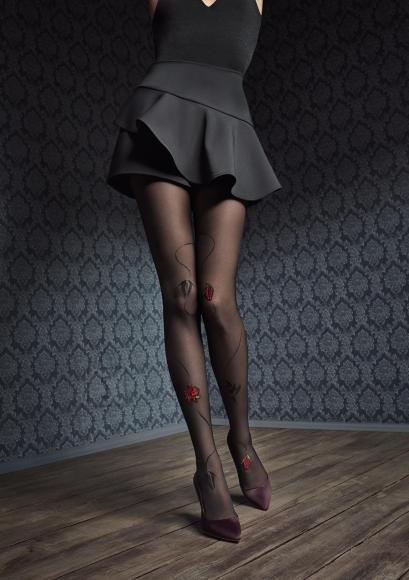 Marilyn Pitsi ja silikooniga sukkpüksid 40DEN
