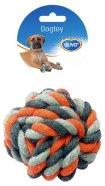 Duvo+ koera nöörlelu sõlmitud pall 13 cm, hall/oranz
