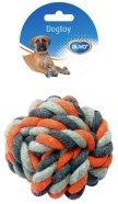 Duvo+ koera nöörlelu sõlmitud pall 8 cm, hall/oranz