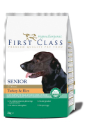 First Class Koeratoit Hypoallergenic - Senior Turkey & Rice 12kg
