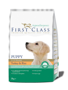 First Class Koeratoit Hypoallergenic - Puppy Turkey & Rice 2kg
