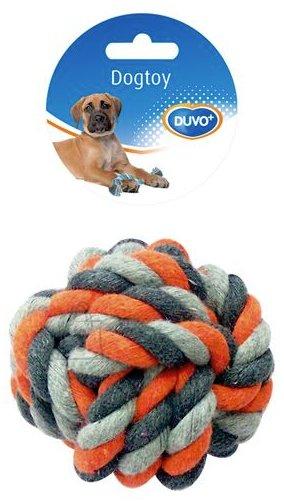 Duvo+ Nöörlelu sõlmitud pall 13 cm, hall/oranz