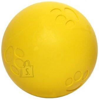 Duvo+ Koeralelu piiksuv pall 7,5 cm, sinine/kollane