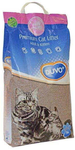 Duvo+ kassiliiv Premium Adult & Kitten Babypowder, 14 l