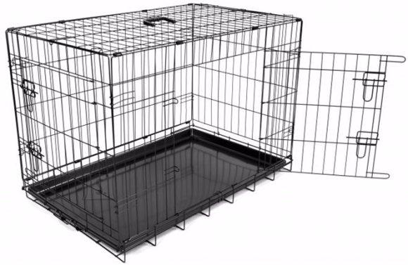 Duvo+ koerapuur kahe uksega 76x48x54 cm