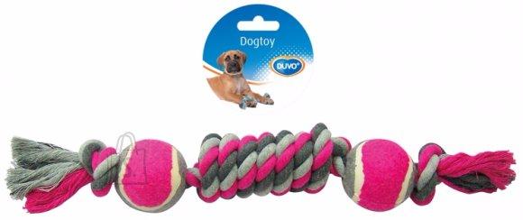 Duvo+ koera nöörlelu kahe tennisepalliga 38 cm