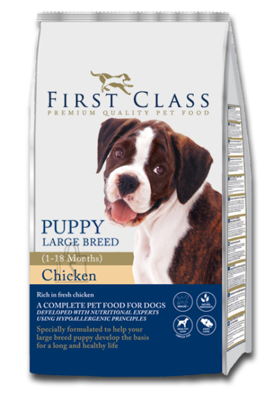 First Class Koeratoit Puppy Large Breed Chicken 12kg