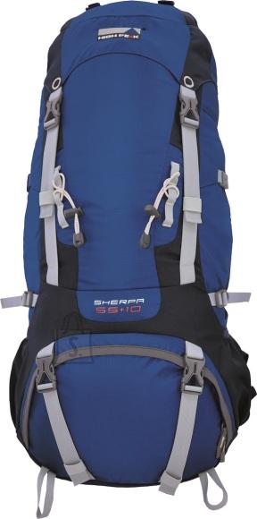 High Peak seljakott Sherpa 55+10, sinine/tumehall