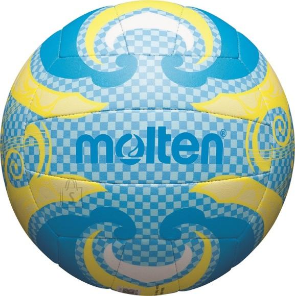 Molten Molten rannavõrkpall V5B1502-C, sünt. nahk, sinine/kollane/valge