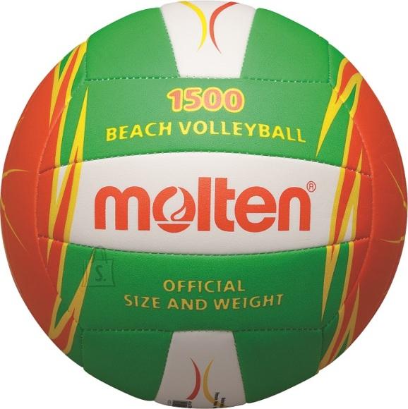 Molten Molten rannavõrkpall V5B1500-LO, sünt. nahk, h.roheline/oranz