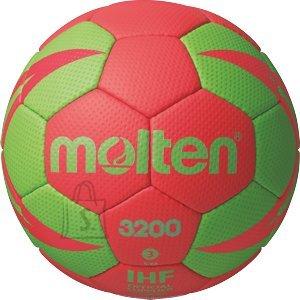 Molten käsipall H3X3200-RG2, sünt. nahk, punane/roheline