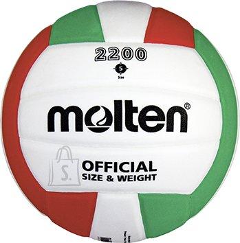 Molten Molten võrkpall V5C2200, sünt. nahk, valge/roheline/punane