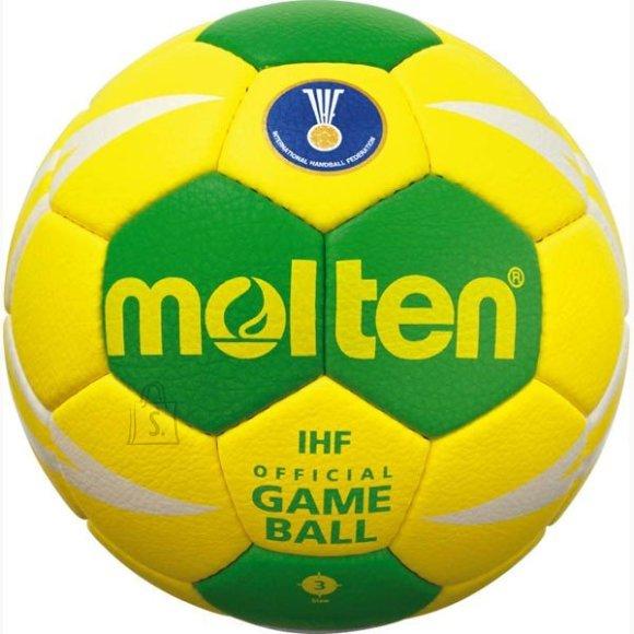 Molten Molten käsipall H3X5001-M7F, sünt. nahk, kollane/roheline/valge