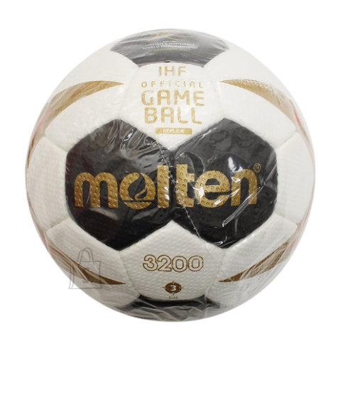 Molten Molten käsipall H3X3200-W7G, sünt. nahk, valge/must/kuldne